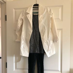 Girls size Large Dancewear With Trench coat.